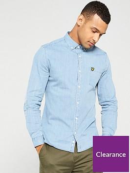 lyle-scott-denim-shirt-chambray-blue