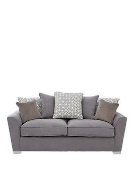 Very Links Fabric 3 Seater Scatter Back Sofa Picture