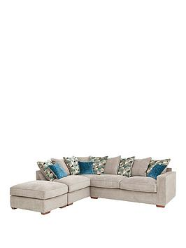 Very Miller Fabric Left Hand Corner Chaise Scatter Back Sofa With  ... Picture