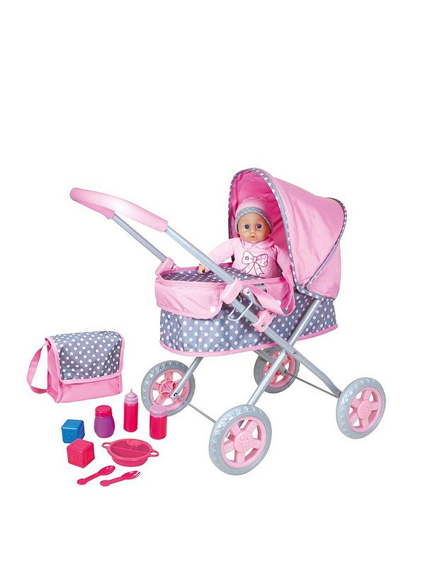 Lissi Dolls Pram With Doll Bag And