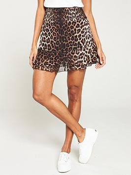 V by Very V By Very Mesh Frill Mini Skirt - Leopard Print Picture