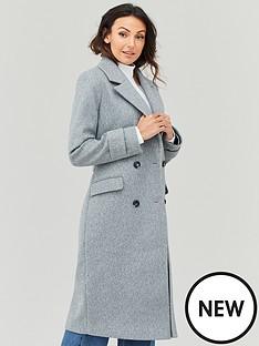 michelle-keegan-double-breasted-longline-coat-grey