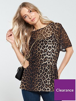 v-by-very-mesh-belted-top-leopard