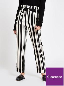 ri-petite-ri-petite-ring-detail-tapered-trouser-black-stripe