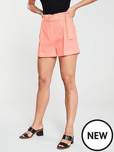 river-island-river-island-diamante-belted-short--coral