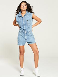 wrangler-denim-sleeveless-playsuit-indigo