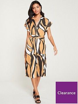 river-island-river-island-belted-shirt-dress-yellow-zebra