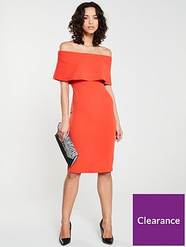 river-island-cape-midi-dress-bright-red