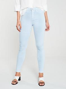 037c42f9474453 River Island River Island Molly Mid Rise Jegging- Light Blue