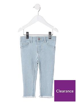 river-island-mini-mini-girls-stripe-molly-jeggings-blue