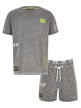 river-island-boys-ri-active-short-outfit-grey