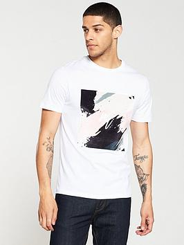 river-island-white-smudge-print-slim-fit-t-shirt