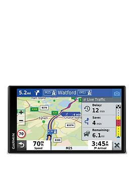 Garmin   Drivesmart 65 Mt-S 6.95 Inch Sat Nav With Edge To Edge Display, Map Updates For Uk, Ireland And Full Europe, Live Traffic, Bluetooth Hands-Free Calling, Voice Commands And Smart Features