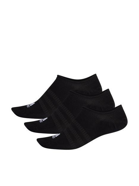 adidas-light-no-show-3-pack-sock-black