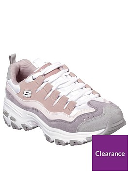 skechers-dlites-sure-thing-trainers-pink