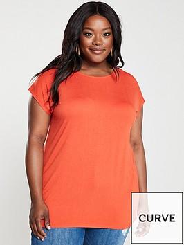 v-by-very-curve-batwingnbspsleeve-t-shirt-deep-orange