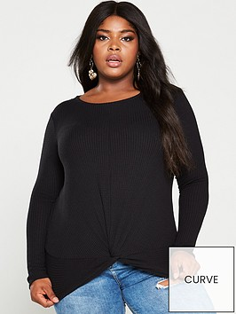 v-by-very-curve-twist-front-top-black