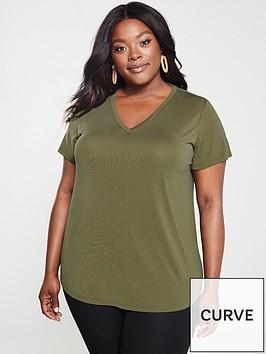 v-by-very-curve-cupro-v-neck-t-shirt-khaki