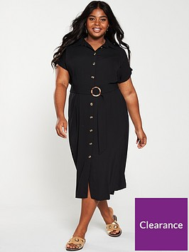 v-by-very-curve-button-through-shirt-dress-blacknbsp