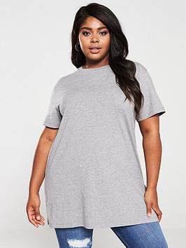 V by Very Curve V By Very Curve Step Hem Tunic - Grey/Marl Picture