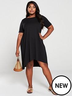 v-by-very-curve-dipped-hem-t-shirt-dress-black