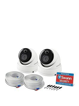 Swann Thermal Sensor Outdoor Security Cameras, 2 Pack - 1080P Full Hd With Ir Night Vision &Amp; Pir Motion Detection