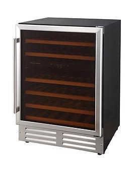 russell-hobbs-rhbi46dzwc1ss-stainless-steel-built-in-or-freestanding-46-bottle-dual-zone-wine-cooler