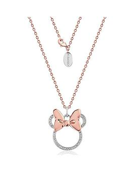 Disney Disney Disney Minnie Mouse 14Kt Rose Gold Plated Crystal Longline  ... Picture