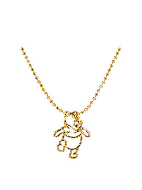 Disney Winnie The Pooh 14kt Gold Plated Outline Character Necklace