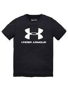 under-armour-sportstyle-logo-t-shirt-blackwhite