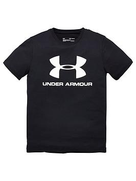 Under Armour Under Armour Sportstyle Logo T-Shirt - Black/White Picture