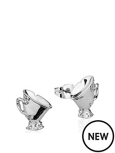 disney-disney-beauty-and-the-beast-14kt-white-gold-plated-chip-teacup-stud-earrings