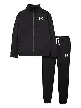 Under Armour Under Armour Knit Tracksuit - Black/White Picture