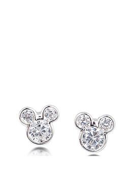 ead51874d Disney Disney Mickey Mouse 14k Gold Plated Crystal Stud Earrings ...