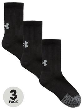 Under Armour Under Armour Youth Heatgear Crew 3 Pack Socks - Black Picture