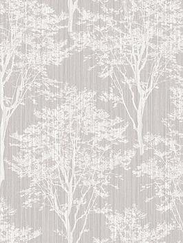 ARTHOUSE Arthouse Diamond Wood Silver Wallpaper Picture