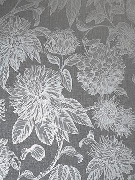 ARTHOUSE Arthouse Luxe Botanica Gunmetal And Silver Wallpaper Picture