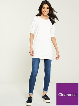 v-by-very-34-sleeve-pocket-tunic-ivory