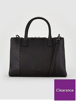 ted-baker-jilion-exotic-faceted-bar-leather-tote-bag-black