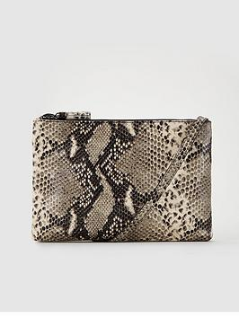 Ted Baker Ted Baker Jamelia Exotic Double Zipped Leather Cross Body Bag -  ... Picture