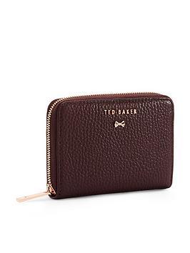 ted-baker-illdey-zip-around-leather-mini-purse-maroon