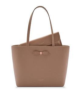 ted-baker-jjesica-bow-detail-leather-shopper-bag-taupe