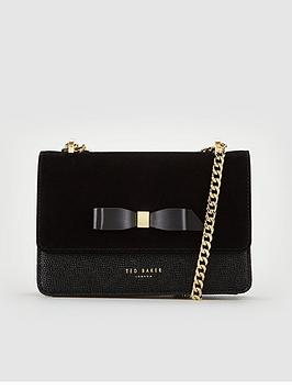 ted-baker-omaria-bow-detail-suede-trim-mini-leather-cross-body-bag-black