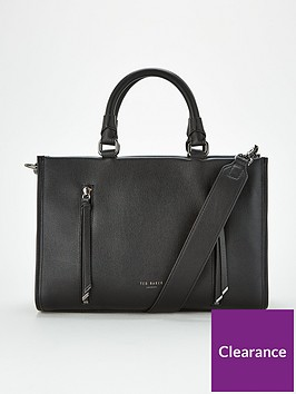 ted-baker-hanee-double-zip-detail-tote-bag-black