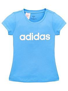 adidas-core-junior-linear-short-sleeve-t-shirt-blue