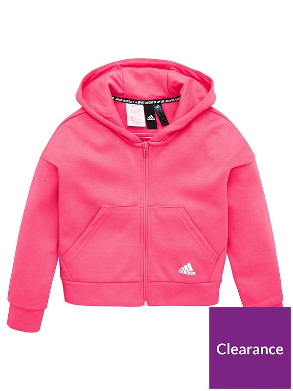 adidas Essential Full Zip Hoodie Ages 2//3 3//4 5//6 Years.