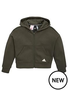 adidas-junior-3-stripe-full-zip-hoodie-khaki