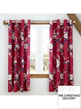 catherine-lansfield-canterbury-eyelet-blackout-curtains-raspberry