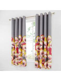 catherine-lansfield-modernist-poppy-eyelet-curtains