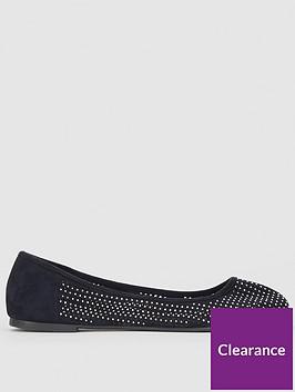 evans-extra-wide-fit-rita-embellished-ballet-shoes-black